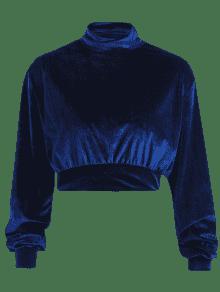 Sudadera Con Terciopelo Marino Cuello De S Vuelto Azul rZ6xnrSv