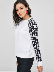Letter Tone Two De Blanco Sudadera S Graphic Rq81qxS