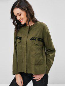 Ej 233;rcito S Jacket Up Shirt Del Tassels Zip Verde ZvWwYpSZgq