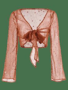 Estrellas Con De S Caramelo Blusa Estampado 7Fqaxdt