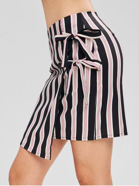 ladies Tie Striped Skirt - MULTI S