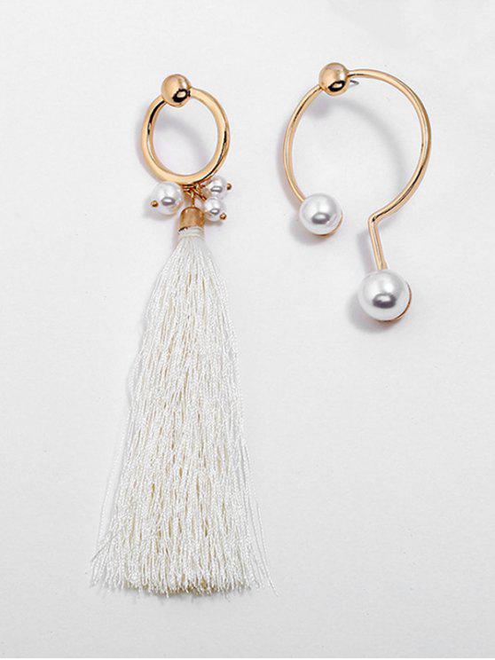 Alloy Artificial Pearl Tassel Earrings   Gold by Zaful