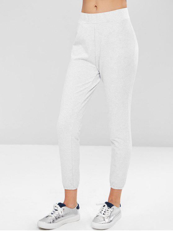 womens Marled Jogger Pants - LIGHT GRAY M