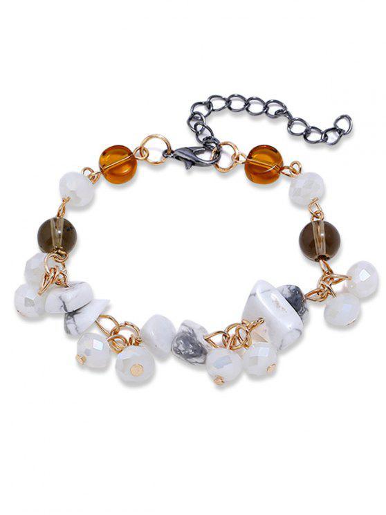 Bracelet en perles artificielles - Blanc