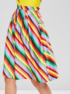 Eine Linie Rainbow Striped Rock - Multi Xl
