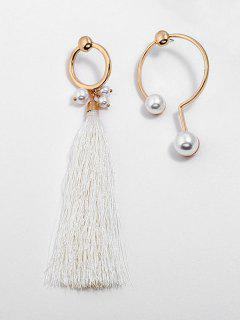 Alloy Artificial Pearl Tassel Earrings - Gold