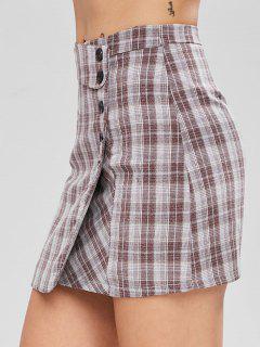 Overlay Checked Skirt - Multi S
