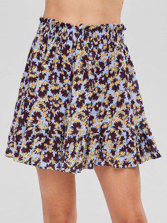 Ruffles Floral Skirt - Multi