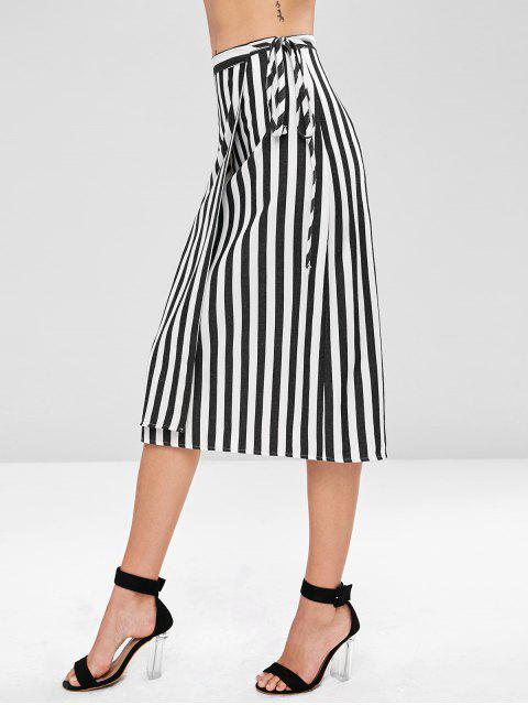 outfit Striped Wrap Skirt - MULTI S Mobile