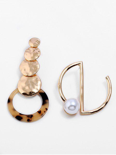 Künstliche Perlenlegierungs-unregelmäßige Ohrringe - Gold  Mobile