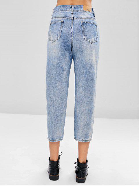 Boyfriend Jeans angustiados - Azul Claro S Mobile