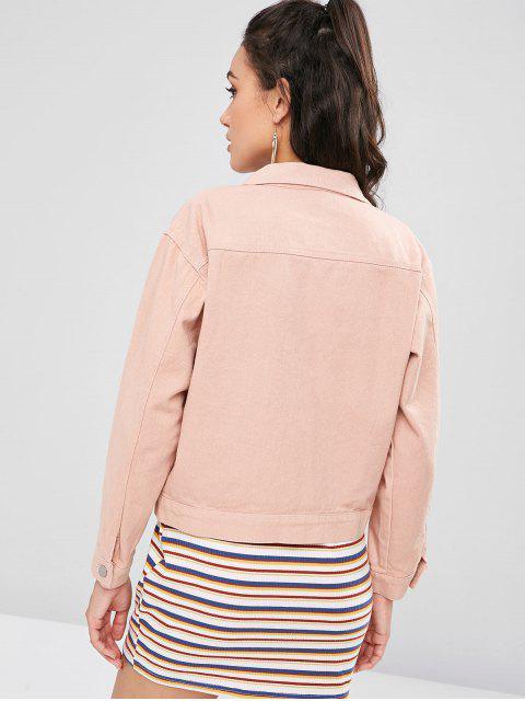 Denim Single Breasted Jacket - Rosa Naranja S Mobile