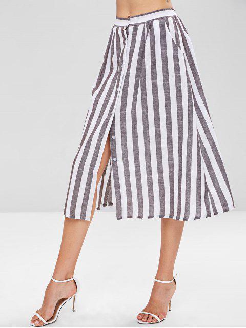 Falda midi a rayas - Multicolor L Mobile