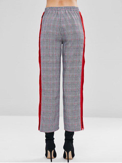 Pantalones a cuadros con botones a presión - Multicolor M Mobile