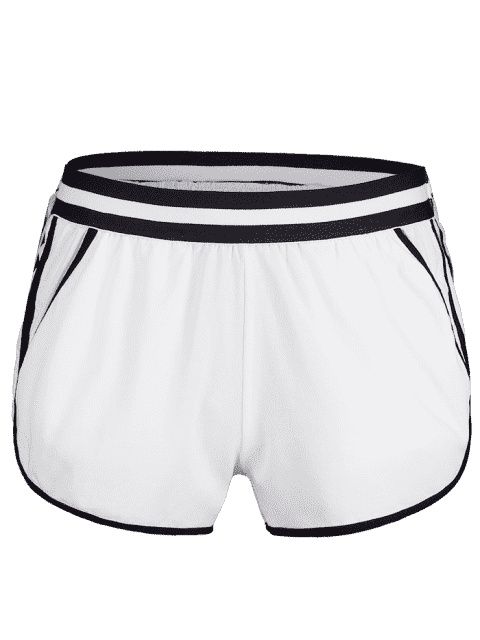 Short de Sport avec Poche à Ourlet Dauphin - Blanc M Mobile