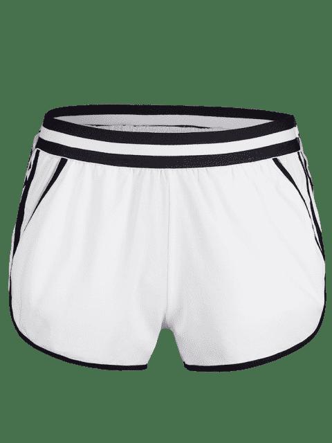 Short de Sport avec Poche à Ourlet Dauphin - Blanc L Mobile
