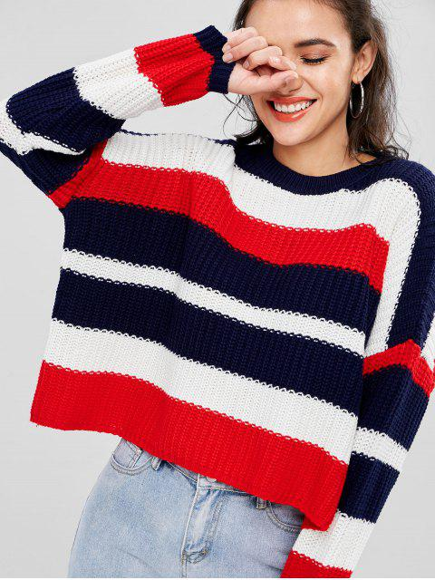 hot Oversize Stripes Sweater - MULTI ONE SIZE Mobile