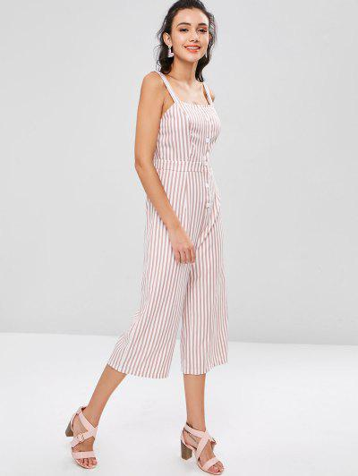 fa5f703b4f8a Wide Leg Striped Jumpsuit - Pink Bow L