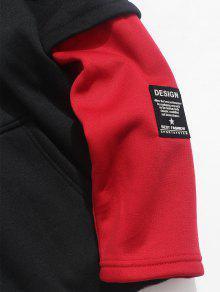 Fleece Contraste De Bomberos De Rojo Cami Xs Hoodie 243;n Piece Fake Two qtnrtO