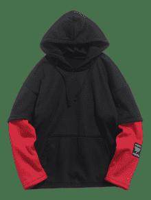 243;n Bomberos Xs Two Cami Piece Fake De Hoodie Fleece Contraste Rojo De TF8Hpv1qFw
