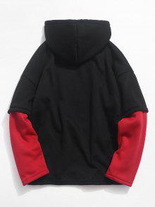 De Piece Two Hoodie Contraste Cami Xs Fake De Bomberos 243;n Rojo Fleece SBzxAqxRwp