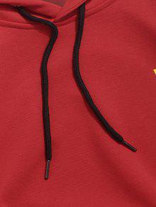 Con Pinted Capucha Sudadera De o Five Pocket Flag Rojo Casta Star L w4UW1dqR
