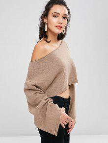 Sweater Skew Claro Marr Collar Shoulder 243;n Drop Crop rInxPFwIq