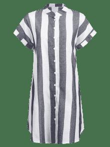 Rayas S De Vestido Multicolor Camisa A fvqPwwRy0