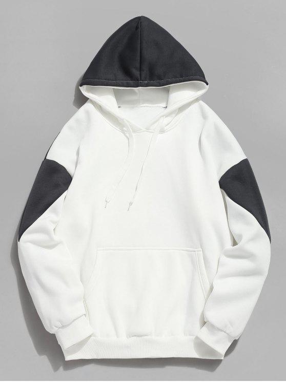 Colour Block Pouch Taschen Fleece Hoodie - Grau S