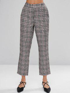 Tailored Checked Dress Pants - Multi L