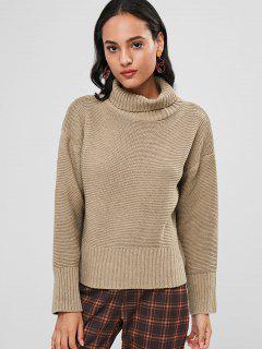 Turtleneck Jumper Sweater - Camel Brown