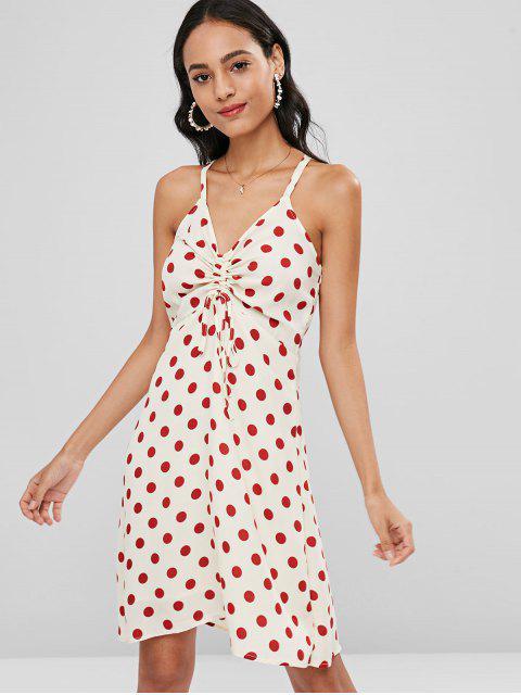 outfit Polka Dot Strappy Skater Dress - MULTI M Mobile