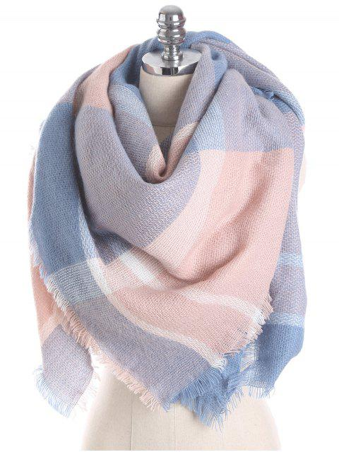 outfits British Style Plaid Pattern Soft Scarf - PINK ONE SZIE Mobile