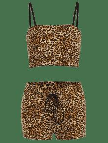 2a0dd23c75 27% OFF  2019 Leopard Print Crop Top And Shorts Co Ord Set In ...