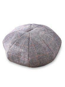 أنيقة منقوشة نمط القبعات - اللون الرمادي