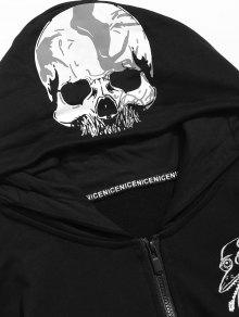 Graphic Negro Embroidery Zip Hoodie L ZfwOBvUfq
