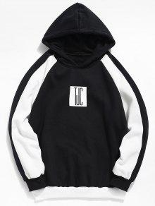 L Graphic Block Capucha Sudadera Con Color Negro 4xIqY5