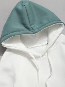 Verde Sudadera Polar Pocket Pouch Block S Con Color Capucha wIt0zqS