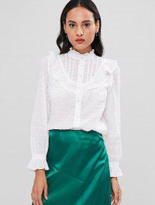 قميص الكشكشة - أبيض M