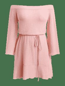 o De M Hombro Tama 225;s Hombro El Claro Vestido De Punto Rosa Cambray De De L vHdqqTw