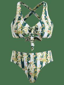 Floral Multicolor Cruzado Talla Bikini De a Conjunto 2x Grande nHTFzq
