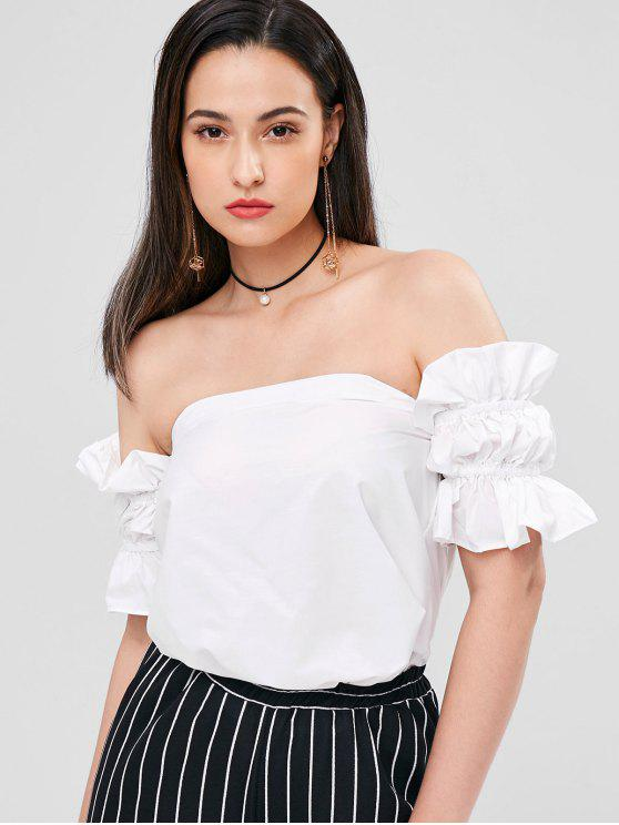 buy Flounce Off The Shoulder Blouse - WHITE ONE SIZE