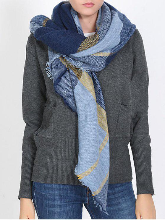 Écharpe douce à motif écossais de style britannique - Cadetblue Taille Unique