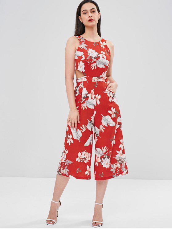 codes promo détaillant en ligne sélectionner pour l'original Combinaison Fleur Nouée à Jambe Large LOVE RED