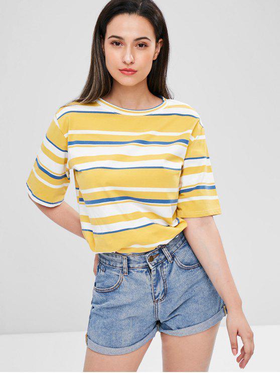 Streifen T-Shirt - Multi Eine Größe