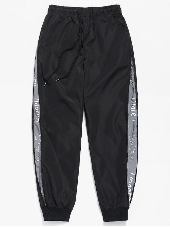 الجانب سستة جيوب السراويل للماء - أسود S