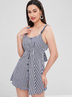 Back Knot Gingham Dress - Multi S