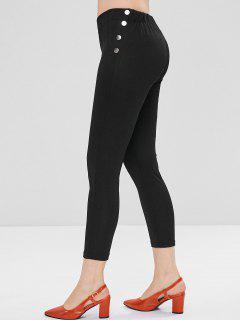 Studded Skinny Pants - Black L