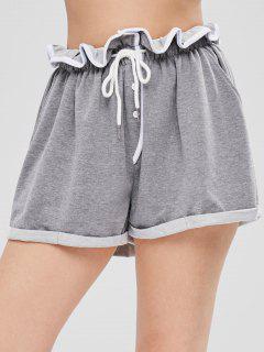 Cuffed Sweat Shorts - Gray Cloud S