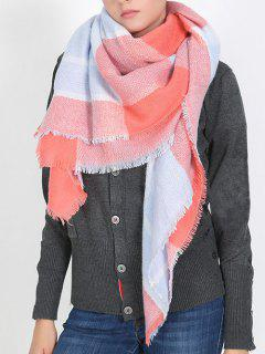 British Style Plaid Pattern Soft Scarf - Basket Ball Orange One Szie